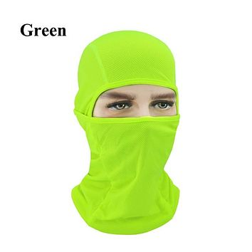 GREEN Winter Outdoor Ski Bibs Snowboard Skiing Full Face Mask Cycling Sport Headgear Tactical Paintball Cap Hat Snowbile Balaclava