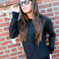 Casual Blend Knit {Olive + Black}