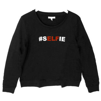 Aeropostale #Selfie Elf Tacky Ugly Christmas Sweatshirt – Black