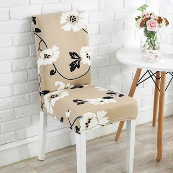 Meijuner Spandex Chair Cover Simple Style Chair Seating Modern Print Chair Case Cover For Hotel Wedding Dining Chair Restaurant