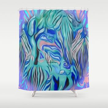 Nicce Shower Curtain by violajohnsonriley