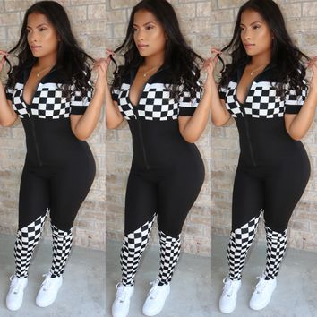 Race Star Jumpsuit Black