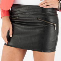 Leather or Not Skirt in Black :: tobi