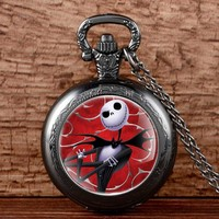 Jack Skellington Design Antique Pocket Watch