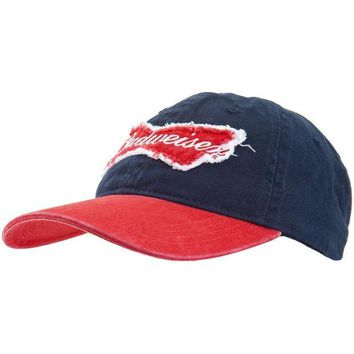 PEAPGQ9 Budweiser - Bow Tie Logo Adjustable Baseball Cap