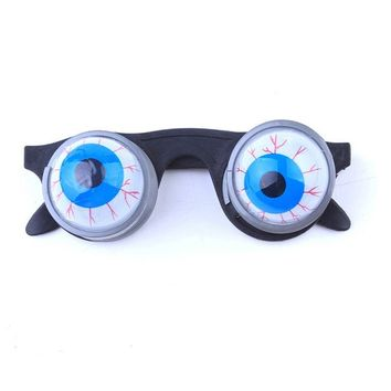 Pop Out Eye Dropping Eyeball Glasses Halloween Decoration