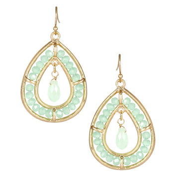 MARLYN SCHIFF Chandelier Semi Precious Mint Earrings