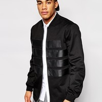 ASOS BLACK Bomber Jacket