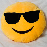 Sunglasses Yellow Emoji Pillow
