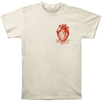 Front Porch Step Men's  Heart T-shirt White Rockabilia