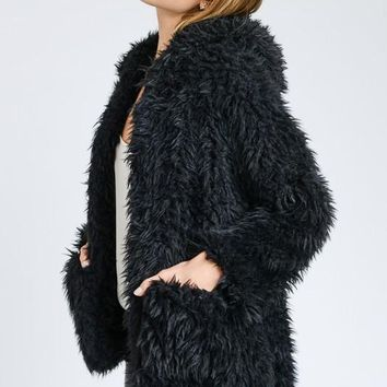 Kortney Fuzzy Fur Jacket