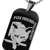 Men Necklace Dog Tag Pendant Chain Gift
