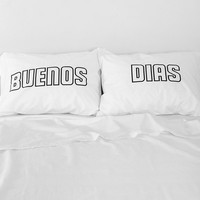 The Rise And Fall Buenos Dias Pillowcase - Set Of 2 - Urban Outfitters