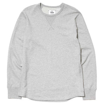 Lightweight Terry Thermal Knit LS Hybrid Crewneck H.Gray