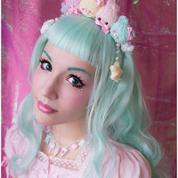 Pastel plush crown (hairband) Pre-order sold by Moon Bunny