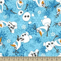 Disney Olaf Snowflake Fleece Fabric | Jo-Ann