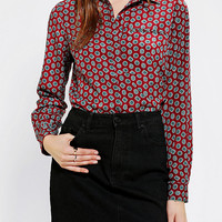 Cooperative Geo-Print Button-Down Blouse