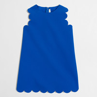 FACTORY GIRLS' SCALLOPED SHIFT DRESS