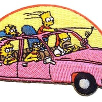 Fuzzy Dude Simpsons Family Car Patch Accessories Patches at Broken Cherry