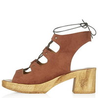 HELTER Lace Up Clogs - Tan