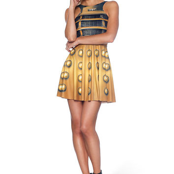 Dalek Reversible Skater Dress