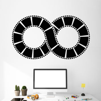 Vinyl Wall Decal Film Strip Movie Lover Infinity Cinema Room Stickers Unique Gift (ig4798)