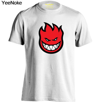 SPITFIRE WHEELS Skateboard Zombie Flaming Head Logo Mens & Womens Printing T Shirt Custom T Shirt