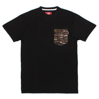 No Church Pocket T-Shirt Black / Detroit Camo
