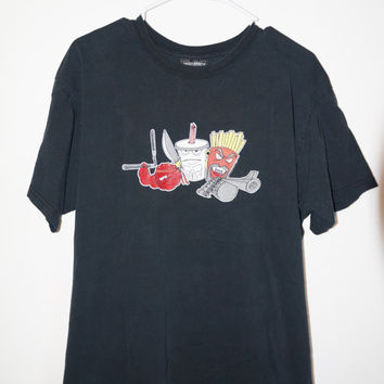 Aqua Teen Hunger Force Tee Shirt, Aqua Teen Shirt, 90s T-Shirt, 90s Grunge, Grunge Shirt, Funny T-Shirt, 90s Cartoon Tee, Size Large