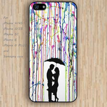 iPhone 5s 6 case watercolor rain loves dream catcher colorful phone case iphone case,ipod case,samsung galaxy case available plastic rubber case waterproof B611
