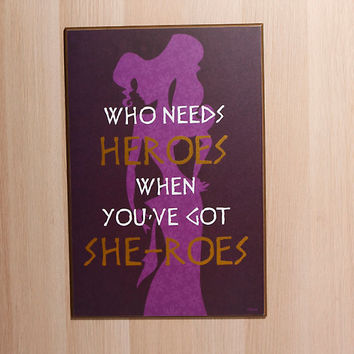 Disney Hercules Heroes Wood Wall Art