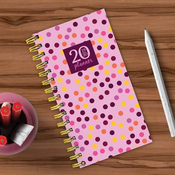 Pink Polka Dot Small Academic Weekly/Monthly Planner