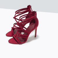 Design Stylish Shoes Summer Peep Toe High Heel Leather Sandals [4918349316]