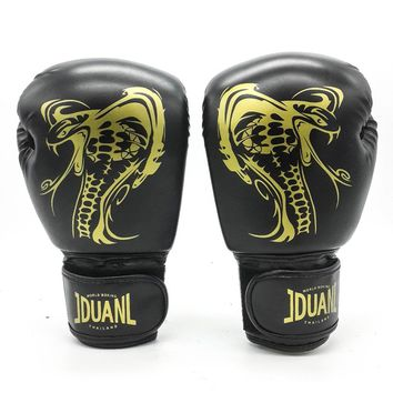 10oz Dragon Boxing Gloves Muay Thai High Quality PU Fighting Wearable Breathable For Training Free Size for Adults