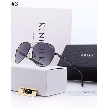 PRADA trend wild men's square polarized Polaroid high-definition lens fashion polarized sunglasses #3