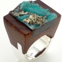 Wood Emerald Ring - Hatred   NOT JUST A LABEL