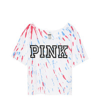 Americana Off-The-Shoulder Crop Tee - PINK - Victoria's Secret
