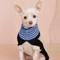 Dusen Dusen White Landscape Alpaca Dog Sweater