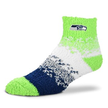 SEATTLE SEAHAWKS MARQUEE SOFT SLEEP WOMEN'S SOCKS BRAND NEW FOR BARE FEET