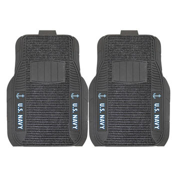 US Navy Armed Forces Deluxe 2-Piece Vinyl Car Mats