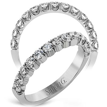 Simon G. Classic Prong Set Slice U-Cut Diamond Wedding Band