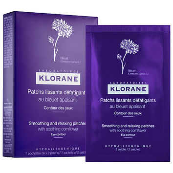 Smoothing and Relaxing Patches with Soothing Cornflower - Klorane   Sephora
