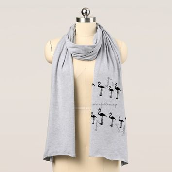 Flamingo Evolution Stylish Soft Jersey Scarf