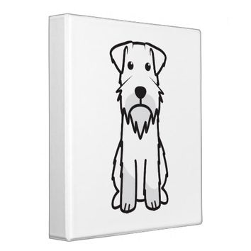Miniature Schnauzer Dog Cartoon 3 Ring Binder