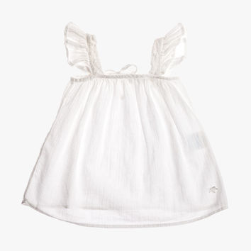 Tocoto Vintage Baby Girl Short Dress in White - S3115 - FINAL SALE