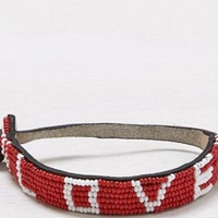 AEO Women's Life Line loveisproject Bracelet (Red)