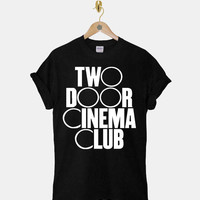Two Door Cinema Club DTG ScreenPrint 100% pre-shrunk cotton for t shirt mens and t shirt woman at kahitna