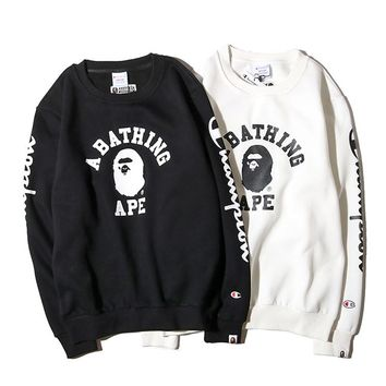 BAPE x CHAMPION Plus Velvet Collar Sweater M-XXL