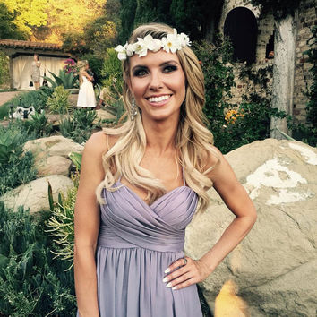 Audrina Patridge White Flower Crown