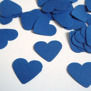 "blue hearts confetti wedding baby shower bar mitzvah 1"" table decoration garland guest book baby party favor cupcake topper lasoffittadiste"
